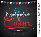 viva la independencia chilena ... | Shutterstock .eps vector #1168195147