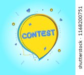 contest card with speech bubble ...   Shutterstock .eps vector #1168200751