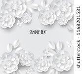 paper art flowers background....   Shutterstock .eps vector #1168201531