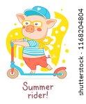 vector illustration of pink... | Shutterstock .eps vector #1168204804