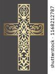 laser cut cross pattern.... | Shutterstock .eps vector #1168212787