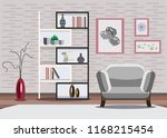 room interior vector... | Shutterstock .eps vector #1168215454