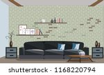 cool graphic living room... | Shutterstock .eps vector #1168220794