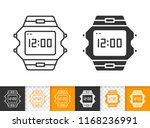wristwatch black linear and...   Shutterstock .eps vector #1168236991