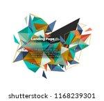 triangular design abstract... | Shutterstock .eps vector #1168239301