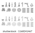 car parts vector icons  piston... | Shutterstock .eps vector #1168241467