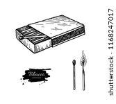 matchbox vector drawing. hand... | Shutterstock .eps vector #1168247017