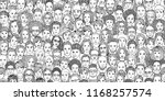 diverse crowd of people  ... | Shutterstock .eps vector #1168257574