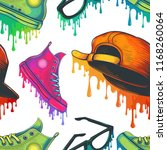 vector colorful fashion... | Shutterstock .eps vector #1168260064