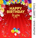 happy birthday to you | Shutterstock .eps vector #1168273411