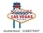 las vegas nevada welcome sign... | Shutterstock .eps vector #1168273447