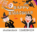 on the day of halloween  jack o'... | Shutterstock .eps vector #1168284124