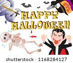 on the day of halloween  jack o'... | Shutterstock .eps vector #1168284127