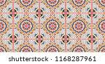 talavera pattern.  azulejos... | Shutterstock .eps vector #1168287961