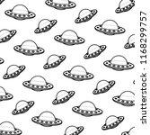 line ufo mystery object...   Shutterstock .eps vector #1168299757