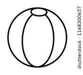 line plastic ball beach...   Shutterstock .eps vector #1168300657