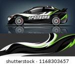 car decal wrap design vector.... | Shutterstock .eps vector #1168303657