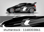 car decal wrap design vector.... | Shutterstock .eps vector #1168303861