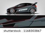 car decal wrap design vector.... | Shutterstock .eps vector #1168303867