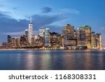night view of new york city... | Shutterstock . vector #1168308331