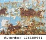 rusty old steel texture | Shutterstock . vector #1168309951