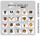 animal head vector icon set....   Shutterstock .eps vector #1168319041