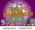 on the day of halloween  jack o'... | Shutterstock .eps vector #1168327414