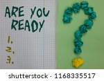 text sign showing are you ready....   Shutterstock . vector #1168335517