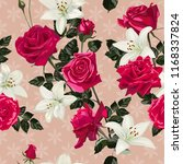seamless pattern with flowers... | Shutterstock .eps vector #1168337824