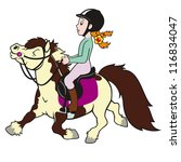 Horse Pony And Girl Rider Chil...