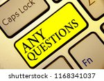 text sign showing any questions.... | Shutterstock . vector #1168341037