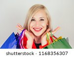 portrait of beautiful blonde... | Shutterstock . vector #1168356307