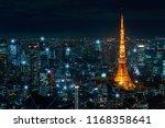 big data communication  network ... | Shutterstock . vector #1168358641