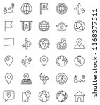 thin line vector icon set  ... | Shutterstock .eps vector #1168377511