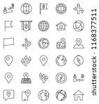 thin line vector icon set  ... | Shutterstock .eps vector #1168377511