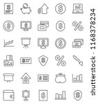 thin line vector icon set  ... | Shutterstock .eps vector #1168378234