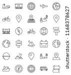 thin line vector icon set  ... | Shutterstock .eps vector #1168378627