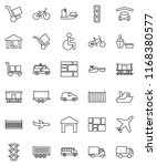 thin line vector icon set  ... | Shutterstock .eps vector #1168380577