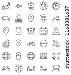 thin line vector icon set  ... | Shutterstock .eps vector #1168381687