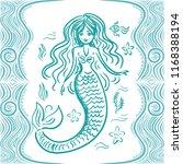 mermaid. vector illustration | Shutterstock .eps vector #1168388194