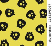 seamless vector pattern with... | Shutterstock .eps vector #1168395097