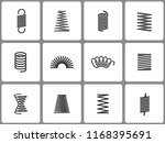 metal spring icon set. black... | Shutterstock .eps vector #1168395691