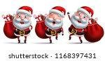 santa claus vector character... | Shutterstock .eps vector #1168397431