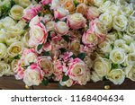 beautiful flower decorate... | Shutterstock . vector #1168404634