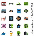 color and black flat icon set   ... | Shutterstock .eps vector #1168409734
