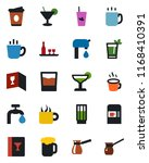 color and black flat icon set   ... | Shutterstock .eps vector #1168410391