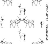 seamless pattern of hand drawn... | Shutterstock .eps vector #1168429684