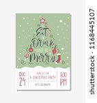 vector christmas party... | Shutterstock .eps vector #1168445107