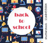 back to school colorful banner... | Shutterstock .eps vector #1168455004