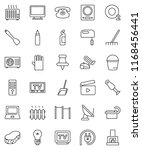thin line vector icon set  ... | Shutterstock .eps vector #1168456441
